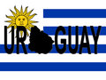 Uruguay text with map Royalty Free Stock Image