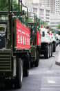 Urumqi military meeting about anti terrorism chinas northwest province xinjiang was hit by violent terrorist attacks in the past Stock Images