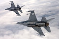 US Air Force F-16 Vipers fly over Italy.