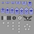 US Air Force Rank Insignia Royalty Free Stock Photo