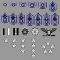 US Air Force Rank Insignia - fabric texture Stock Images