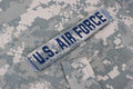 Us air force uniform Royalty Free Stock Photo
