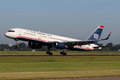 Us airways boeing b b amsterdam july lands at ams airport in netherlands on july is a major u s airline Royalty Free Stock Images