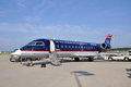 US Airways CRJ 200 at airport Stock Photography