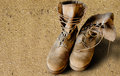 Us army boots on sand uniform sandy background war concept Royalty Free Stock Image