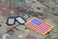Us army camouflaged uniform Royalty Free Stock Photo