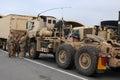 US Army Comvoy at the Border