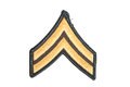 Us army corporal rank patch Stock Photo