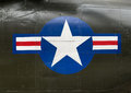 US Army insignia on the side of a Vietnam war helicopter Royalty Free Stock Photo