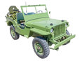 Us army jeep world war era with machine gun Stock Photos