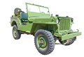 Us army jeep world war era with machine gun Royalty Free Stock Photo