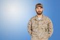US army military man Royalty Free Stock Photo