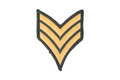 Us army sergeant rank patch Stock Image