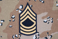 Us army uniform sergeant rank patch Royalty Free Stock Photos