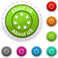 About us  award. Royalty Free Stock Photo
