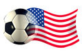 Us ball flag Stock Photo