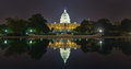 Us capital building reflection at night this is the in washington dc Royalty Free Stock Photo