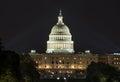 US Capital at Night Royalty Free Stock Photo