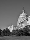 US Capitol in Black & White Royalty Free Stock Photos