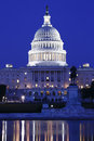 Us capitol building at night in washington dc Royalty Free Stock Photos