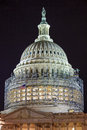 US Capitol North Side Dome Construction Night Stars Washnington DC Royalty Free Stock Photo