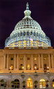 US Capitol South Side Construction Night Stars Washington DC Royalty Free Stock Photo
