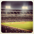 Us cellular baseball field at night Royalty Free Stock Images