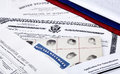US Citizenship Documents Royalty Free Stock Photo