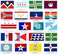Us city flags vector a collection of developed in adobe illustrator Royalty Free Stock Photo