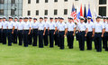 US Coast Guard Graduation Stock Image