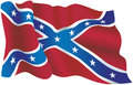 US confederate flag Royalty Free Stock Photo