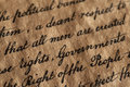 Us constitution closeup of the Royalty Free Stock Photos