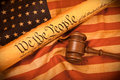US Constitution - We The People Royalty Free Stock Photo