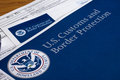 Us customs and border protection form to fill out Royalty Free Stock Image