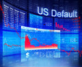 US Default Crisis Economic Stock Market Banking Concept Royalty Free Stock Photo