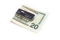 Us dolars on money clip dollars notes Royalty Free Stock Images