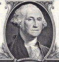 Us dollar detail washington on a bill Stock Images