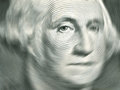 Us dollar detail washington with sensitive focus on a bill Stock Photo