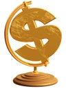 US Dollar Globe Stock Image
