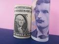 US dollar and Norwegian krone Royalty Free Stock Photo