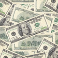 Us dollars bank notes background Stock Images