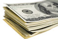 Us dollars isolated on white Royalty Free Stock Photo