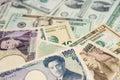 Us dollars japanese yen photo taken on february th Stock Photos