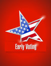 Us early voting patriotic illustration design over a red background Stock Photos