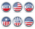 US Election Campaign Buttons Stock Photo