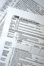 US Federal 1040 Tax Form, Plain Forms, Taxes Royalty Free Stock Photo