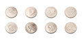 US five cents coins collection Royalty Free Stock Photo