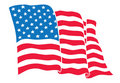 US Flag (American Flag) flowing Royalty Free Stock Photo