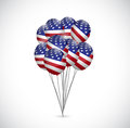 Us flag balloons illustration design set over a white background Stock Photo