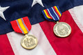 US Flag Military Medals Royalty Free Stock Photo